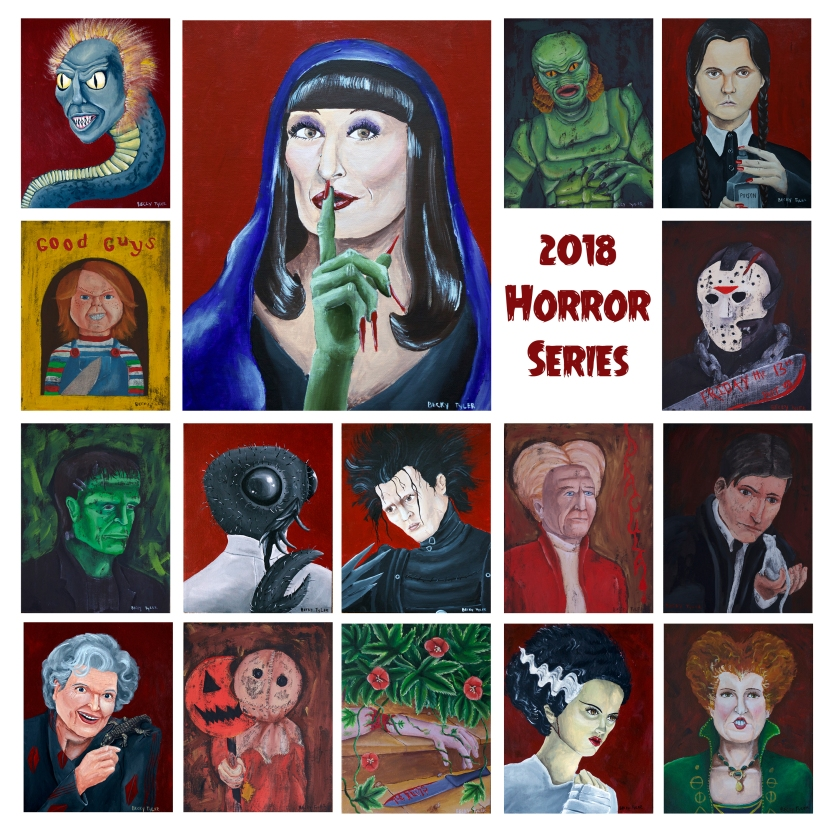 2018 Horror Series Collage