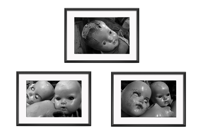 Creepy Doll Heads Set - No frames
