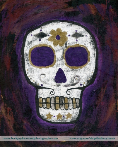 Sugar Skull Purple