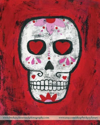 Sugar Skull Red