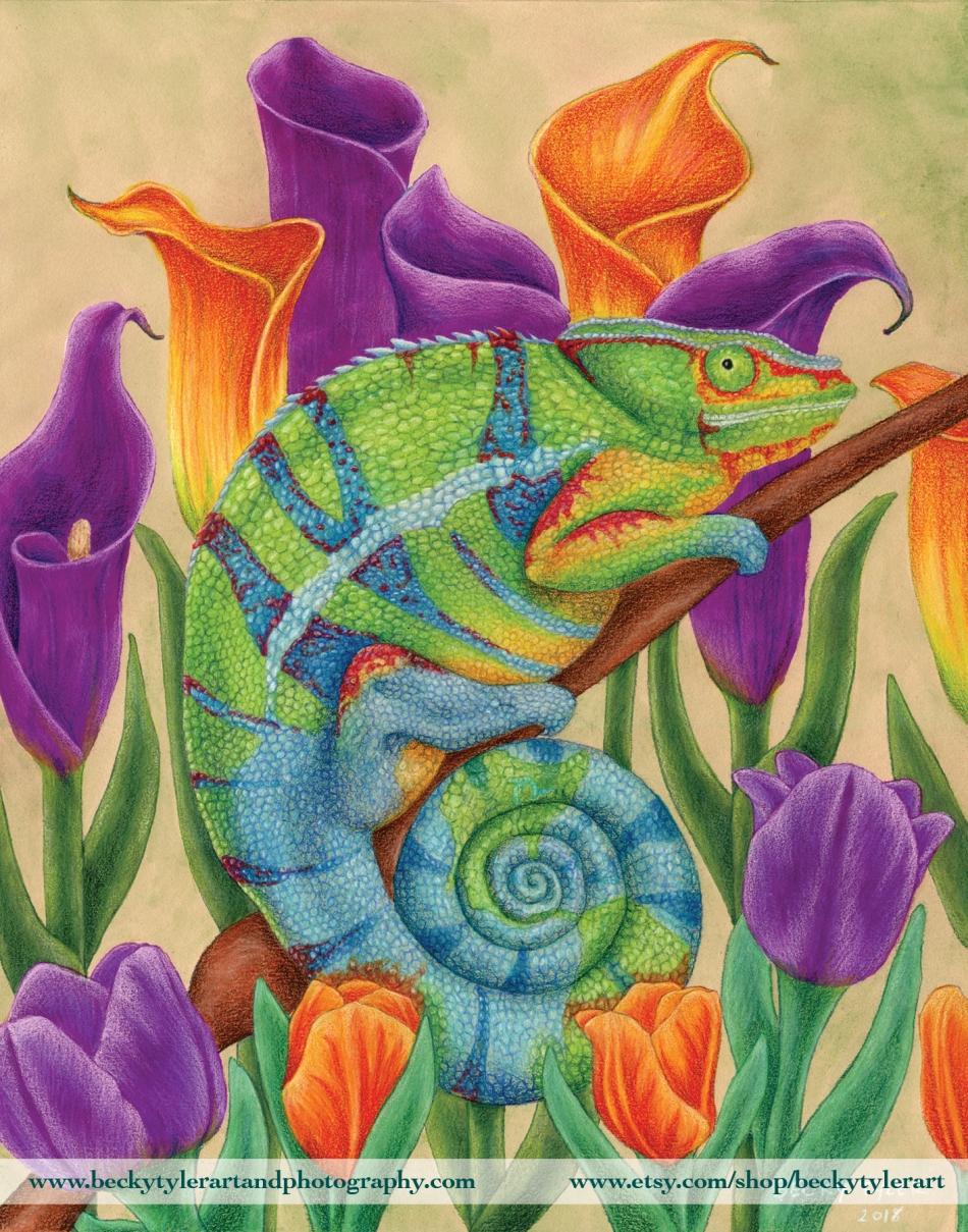 Earth Day 2018 Chameleon