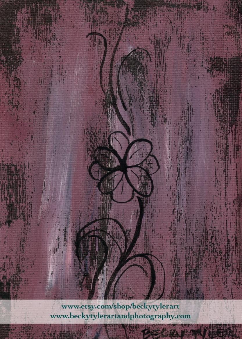 Daisy Line Art Pink