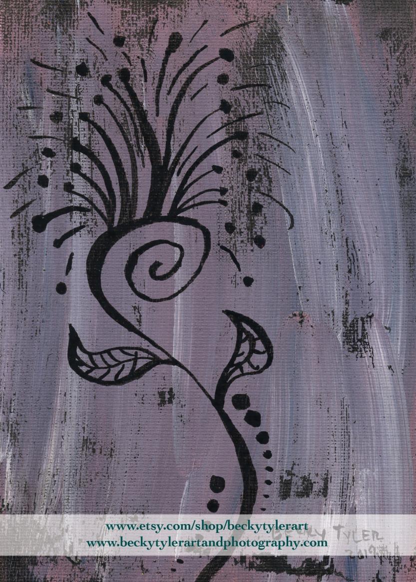 Dandelion Line Art Pink