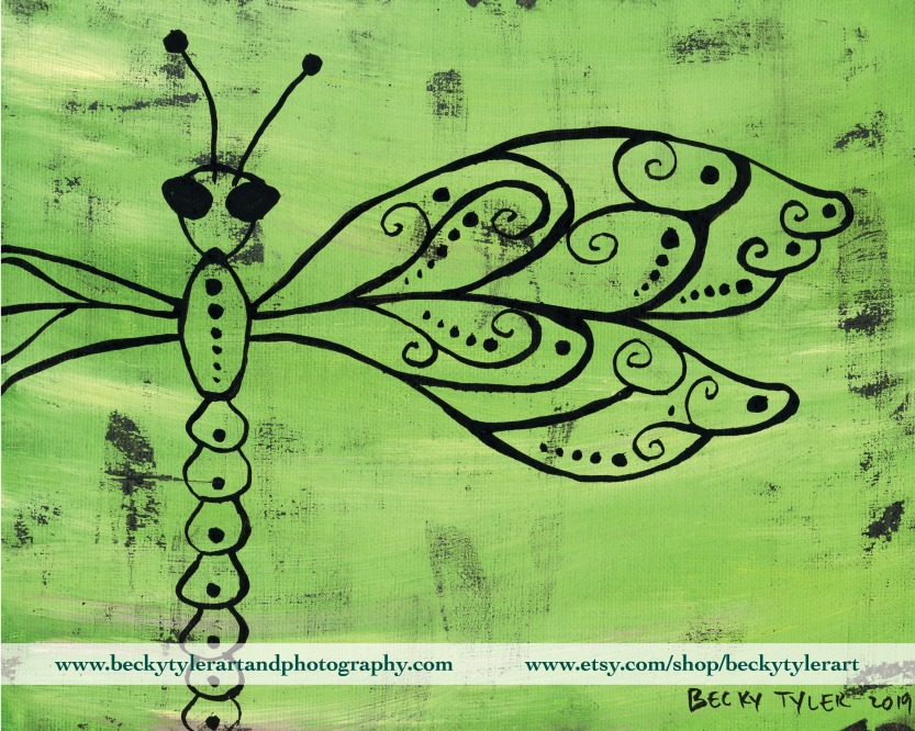 Dragonfly Line Art