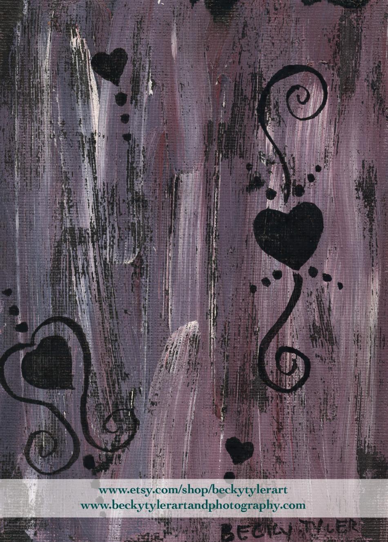 Heart Line Art Painting