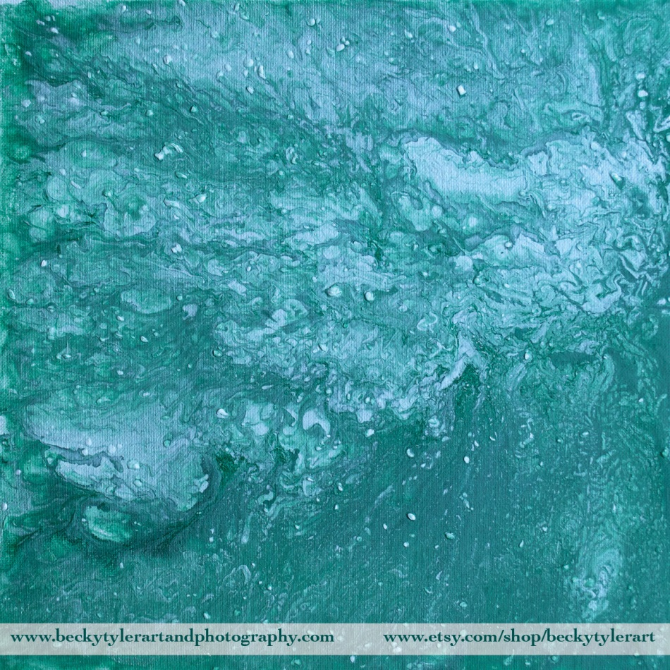 2019 Abstract Green and White