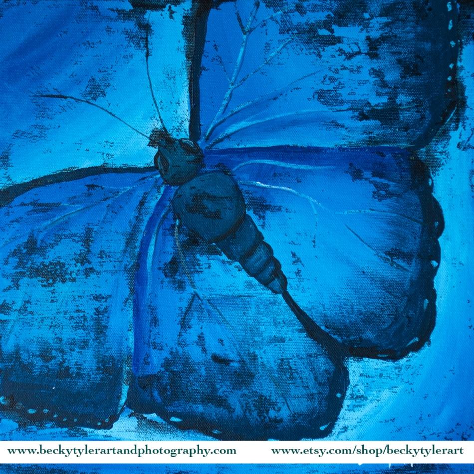 2020 12x12 Blue Butterfly